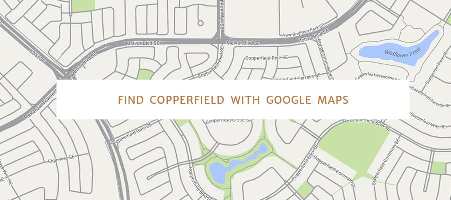 Find Copperfield with Google Maps