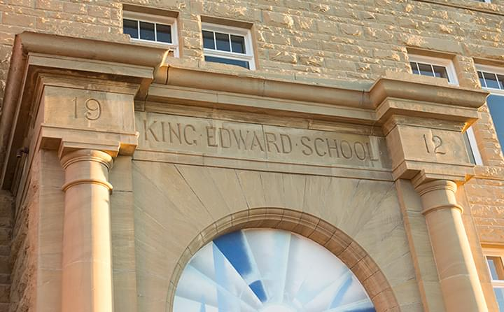 King Edward School entrance
