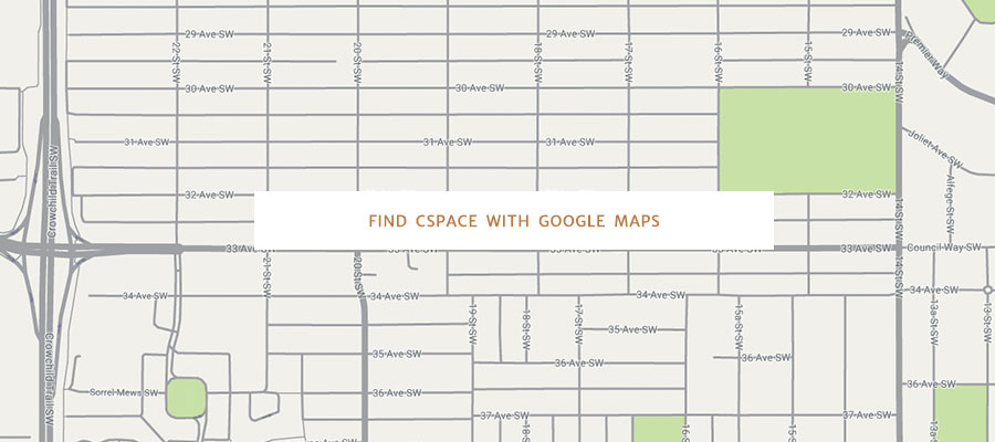 Find cSpace with Google Maps