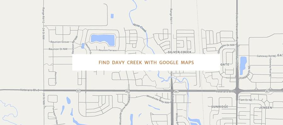 Find Davy Creek with Google Maps