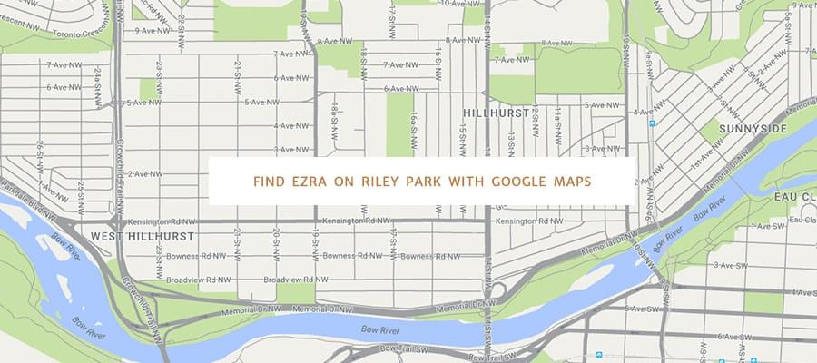 Find Ezra on Riley Park with Google Maps