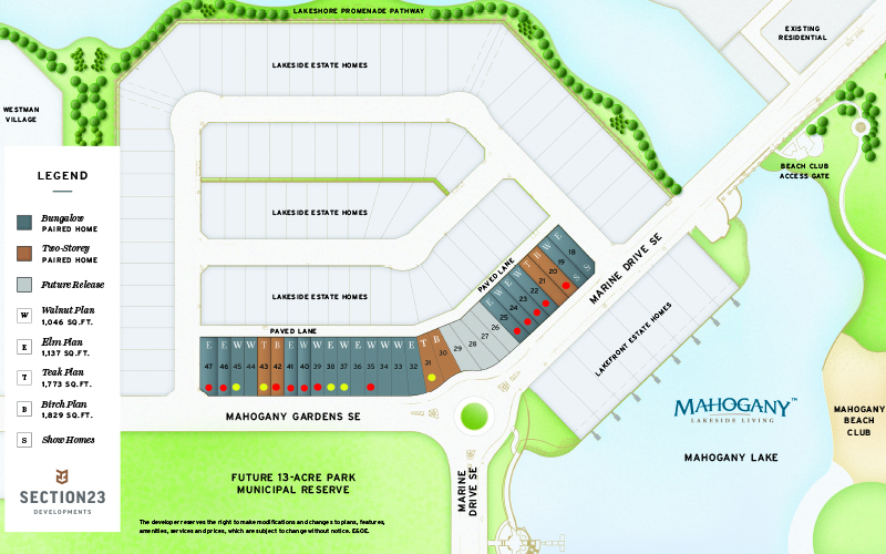 Section23 Mahogany Executive Paired Homes Site Plan
