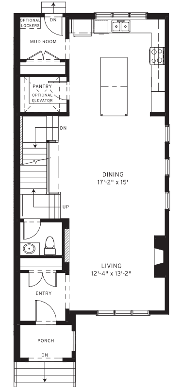 Section23 Mahogany Executive Paired Home - Birch Model - Main Floor floorplan