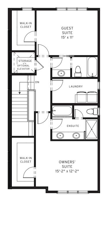 Section23 Mahogany Executive Paired Home - Birch Model - Upper Floor floorplan