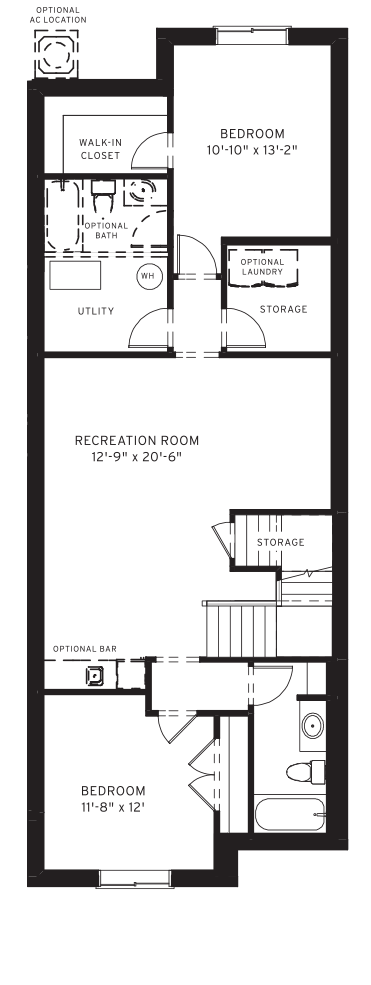 Section23 Mahogany Executive Paired Home - Elm Model - Optional Basement floorplan