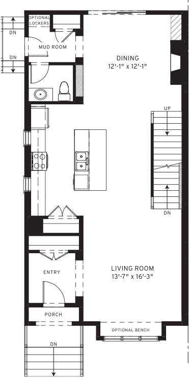 Section23 Mahogany Executive Paired Home - Teak Model - Main Floor floorplan