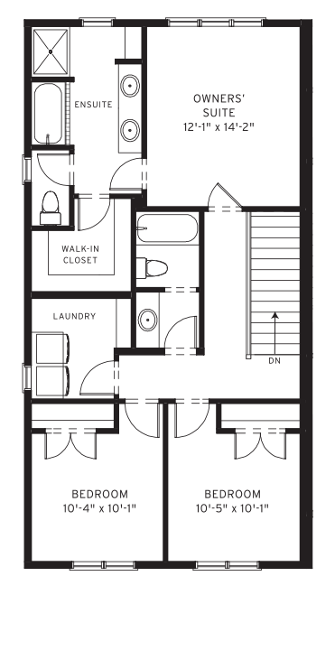 Section23 Mahogany Executive Paired Home - Teak Model - Upper Floor floorplan
