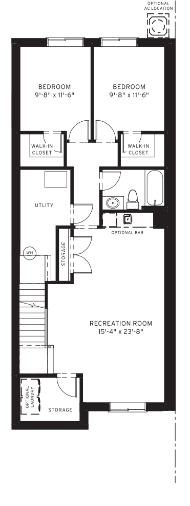 Section23 Mahogany Executive Paired Home - Walnut Model - Optional Basement floorplan