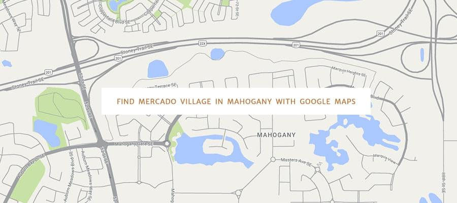 Find Mercado Village in Mahogany with Google Maps