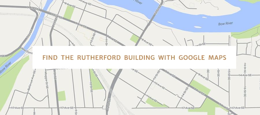 Find The Rutherford Building with Google Maps